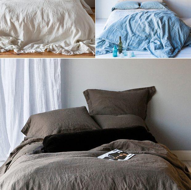 My Cozy DIY linen Duvet | Jungalow by