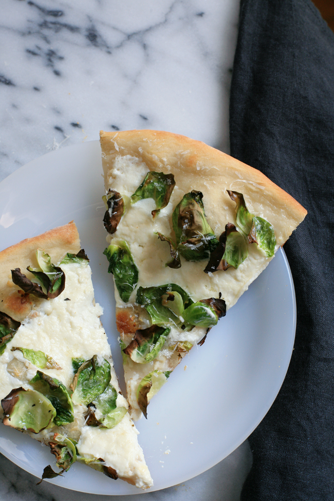 Brussels and Burrata Pizza | Danae Horst for The Jungalow