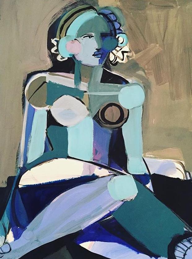 Hayley-Mitchell-Art-Blue-Lady