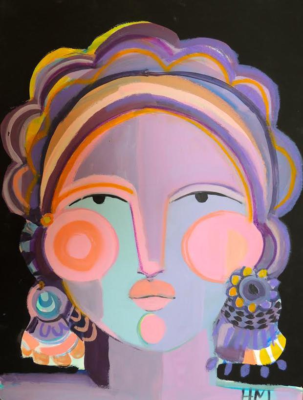 Hayley-Mitchell-Art-Lady-Face-Purples