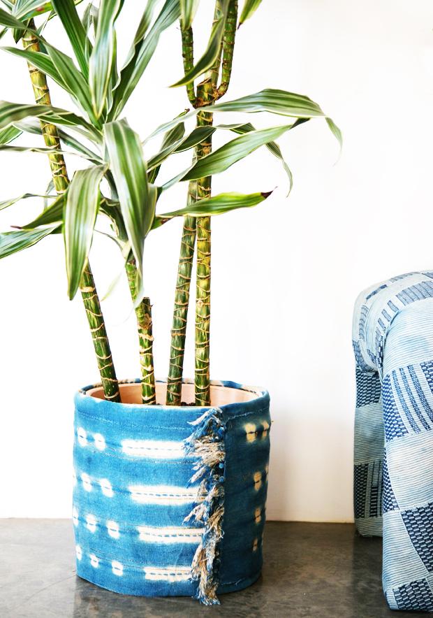 Jungalow-Indigo-Fabric-DIY-Planter-Wrap