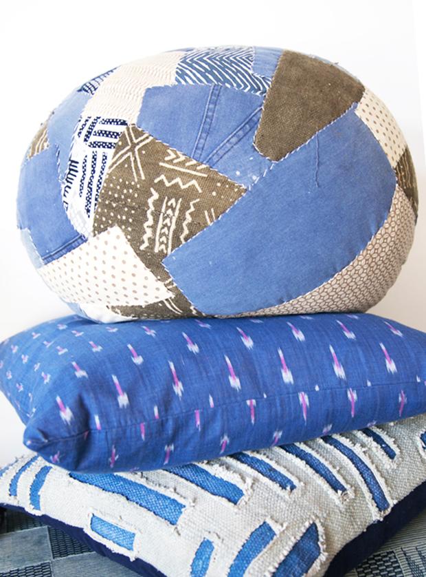 Jungalow-Indigo-Fabric-DIY-Pouf