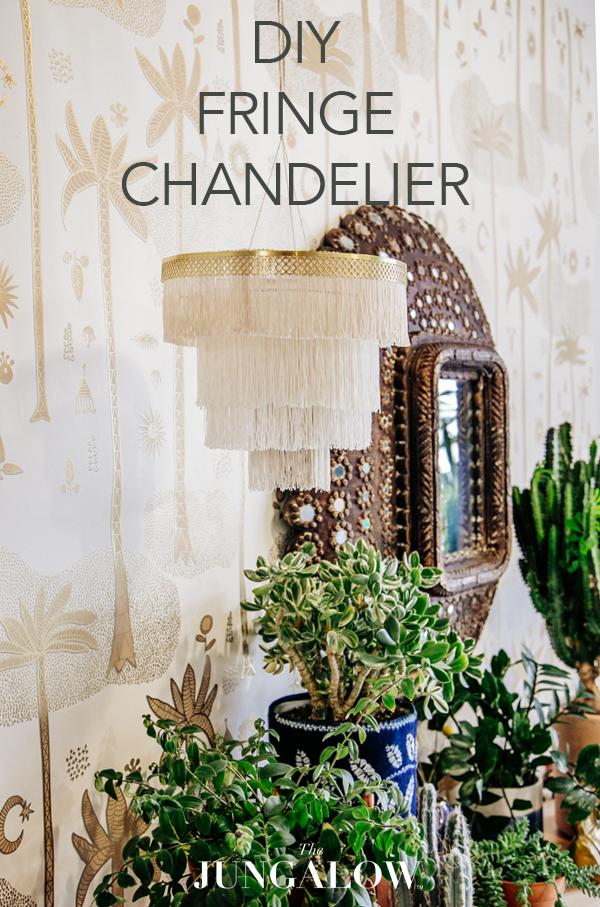 DIY Boho Fringe Chandelier