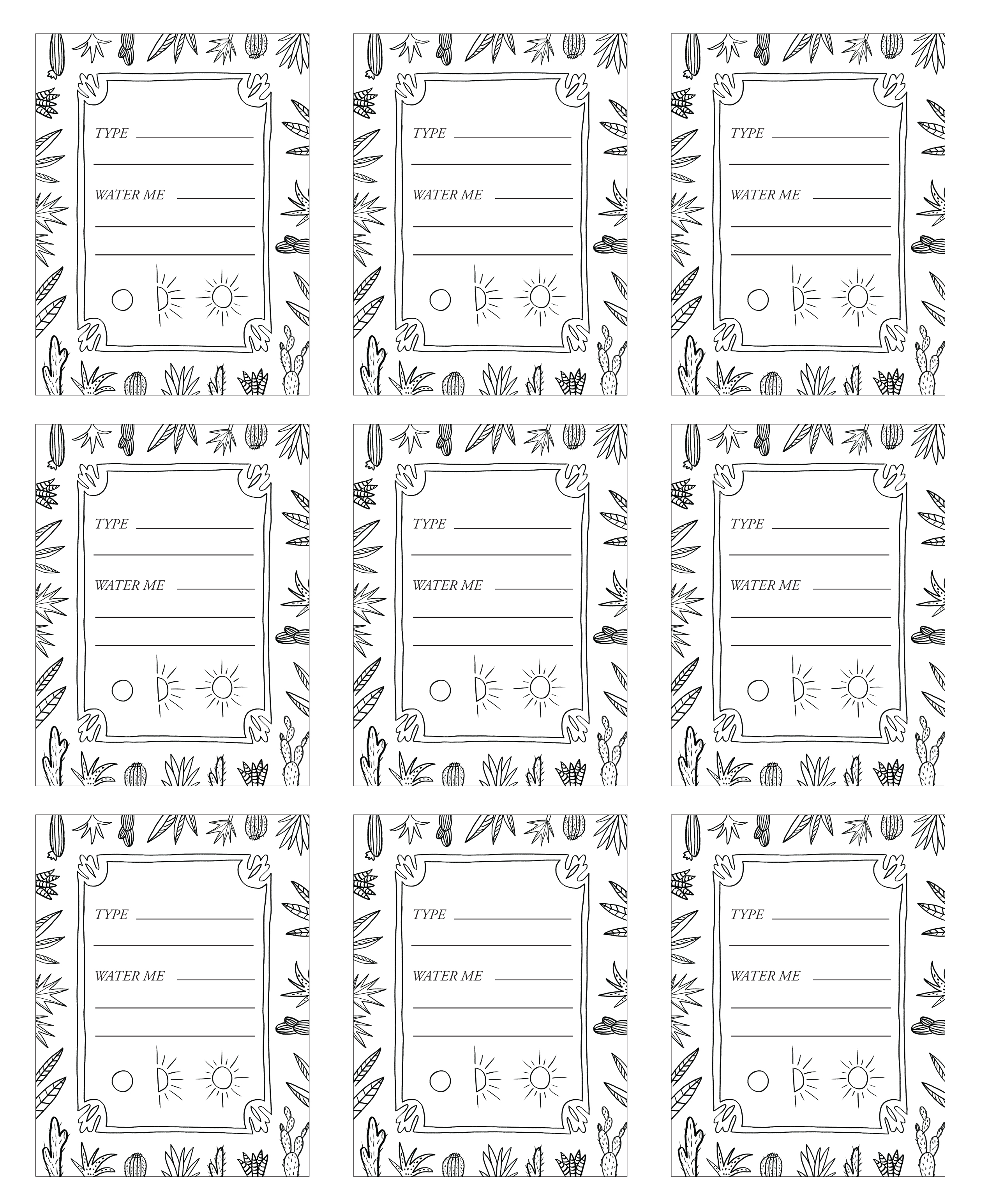 photo regarding Printable Plant Labels titled Do it yourself Patternful Planters + Free of charge Printables Jungalow by way of