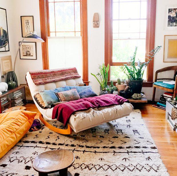 Shayne\'s Vintage Modern Living Room | Jungalow by Justina ...