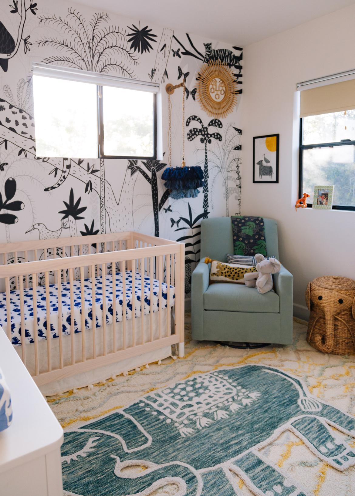 A modern boho jungle nursery for baby Chase  Justina Blakeney