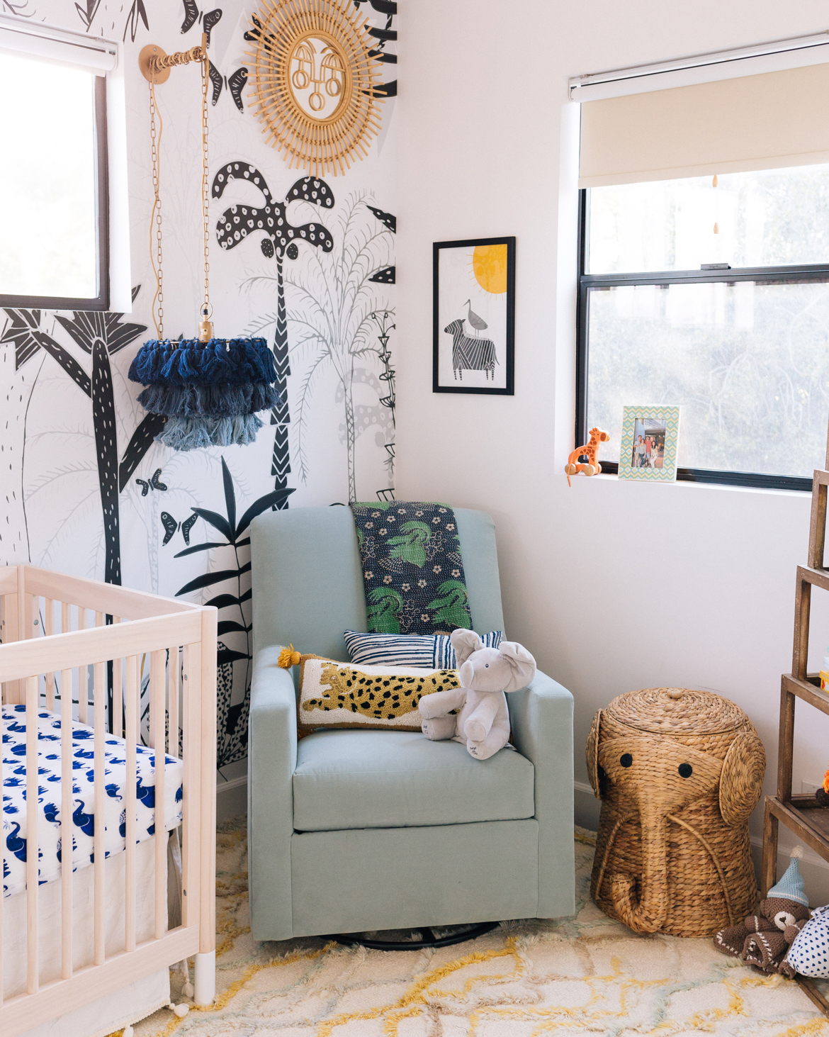 A Modern Boho Jungle Nursery For Baby Chase Jungalow By Justina